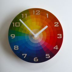 Objectify Color Wheel Plywood Wall Clock with by ObjectifyHomeware, $48.00