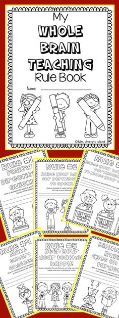 WHOLE BRAIN TEACHING FREEBIE! Are you a Whole Brain teacher? If so take advantage of this FREE Whole Brain Teaching rule booklet! After teaching your students the WBT rules your students can create a coloring booklet and provide a constructed response to Teaching Rules, Teaching Class, Whole Brain Teaching, Teaching Strategies, Teaching Tools, Teacher Resources, Teaching Ideas, Whole Brain Rules, Creative Teaching
