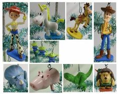 Disney Toy Story Set of 11 Holiday Christmas Tree Ornaments Featuring The Three Green Aliens, Hamm, Prickle Pants, Jessie, Woody, Bullseye, Rex, Buttercup, and Trixie Disney http://smile.amazon.com/dp/B0067WK690/ref=cm_sw_r_pi_dp_G6Zgvb12BKZZ4