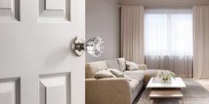With crystal door knobs add a beautiful touch to your home doors. Ideally, you can choose between oval or round knobs to add timeless appeal to any home. Mobile Home Doors, Crystal Door Knobs, Swinging Doors, Vintage Doors, Closet Doors, Trust, Crystals, Home Decor, Decoration Home