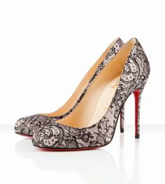 ❤❤❤…… Christian Louboutin Fifi 100mm Nude/Black ,▁▂▃ Marked For My Shopping Bags.. ▫◈▣◐◑‡➹