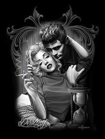 Destiny By David Gonzales Art Canvas Giclee Marilyn Monroe James Dean Retro  Vintage Pinup