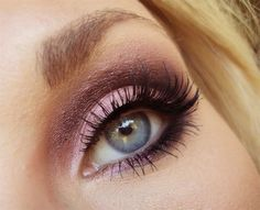 Dusty pink with plum in the crease