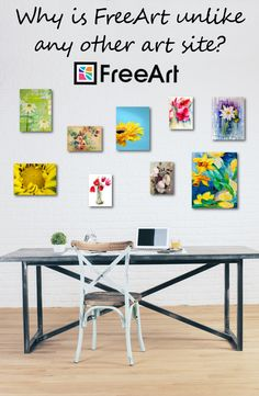 Free small size of any artwork at www.freeart.com (small s&h fee applies. Limit 10 per order.). Custom order the exact size and shape you want. All art offered on photo paper, canvas wrap, acrylic, or metal.
