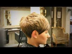 Freehand Clippering {no guard} Taper, Short Pixie Graduated Girls Haircut - YouTube