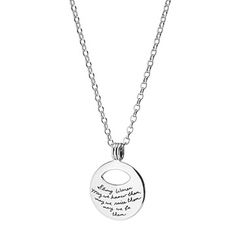 Strong Women-may we know them, may we raise them, may we be them pendant Uncommon Goods