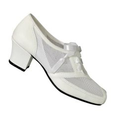 6028190b39b3 Cool Aris Allen White 1940s Mesh Oxford - CLOSEOUT 1940s Shoes