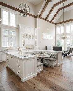 Beautiful kitchen with both casual and more formal dining areas.