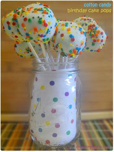 Cotton Candy Cake Pops (step by step)