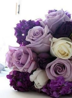 a bouquet of roses for the bride