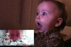 Vídeo mostra reaçao de bebês assistindo ao trailer do novo Star Wars – veja isso