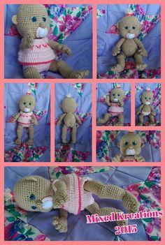 Sweet Pea - crochet baby doll