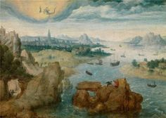 Oil Painting Herri Met De BlesSaint John On The Island Of Patmos15351550 Printing On Perfect Effect Canvas  10x14 Inch  25x36 Cm the Best Bathroom Gallery Art And Home Artwork And Gifts Is This Best Price Art Decorative Prints On Canvas