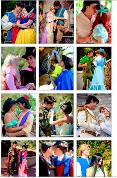 Disney Couples- Wendy & Peter Pan/Flynn & Rapunzel are my favorite!