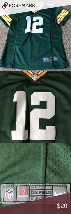 f3f4252d3 NFL Aaron Rodgers Green Bay Packers Sown Jersey Excellent like new  condition sown NFL Nike Jersey