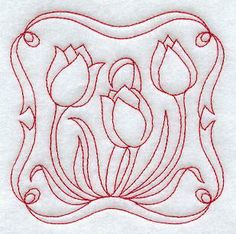 Machine Embroidery Designs at Embroidery Library! - Tulips