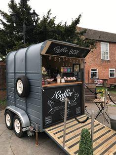 Coffee Box, My Coffee Shop, Coffee Stands, Coffee Carts, The Coffee, Food Cart Design, Food Truck Design, Coffee Food Truck, Mobile Coffee Shop