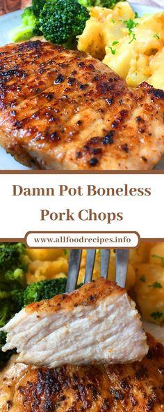 Easy Pork Chop Recipes, Pork Recipes, Chicken Recipes, Instapot Pork Chops, Pork Ribs, Crockpot Boneless Pork Chops, Cooking Recipes For Dinner, Pork Tenderloin Recipes, Slow Cooker Pork