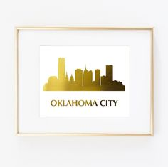 "Oklahoma City OK Real Gold Foil Art Wall Print Skyline City Home Town US States World Map distance Fashion Wedding Gift Gold poster 0489. ▲ Limited edition art print. ▲ These print is done with shiny gold finish. Printed on Beautiful Fine Paper. ▲Print Size: (8 x10"", 11""x14"" or 11""x17""). No frame or matting are included with purchase."