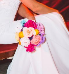 Paper Flower Bouquet, Summer Wedding, Paper Flowers, Bridal Bouquet, Alternative Bouquet, Paper Bouquet, Spring Wedding, Dia de los Muertos