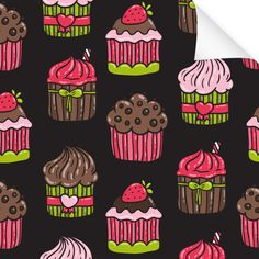 Klebefolie Muster Muffin