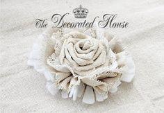 La casa decorada: ~ Cómo hacer flores de la tela Continuación ... DIY Tutorial
