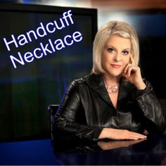 Friends, My Signature Handcuff Necklace is Available at www.nancygrace.com #handcuffnecklace