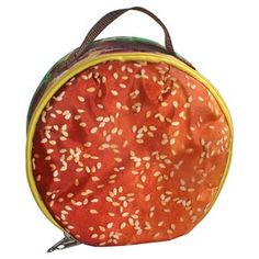HAMBURGER SNACK ATTACK LUNCH BAG BROWN