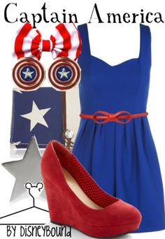 Captain America outfit created by disneybound. @Jenna Nelson Nelson Harvie