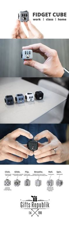 Anti Stress Fidget Cube- this is amazing Things To Buy, Things I Want, Stuff To Buy, Weird Things, Stress Cube, Fidget Cube, Fidget Toys, Take My Money, Cool Inventions