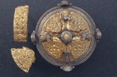Viking box brooch made of silver and gold, found at the island of Gotland, Sweden.