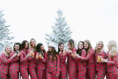 cozy flannel themed bachelorette weekend in the mountains