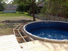 above ground pool wood decks