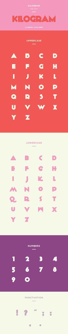 Kilogram free font — click here for free font download.