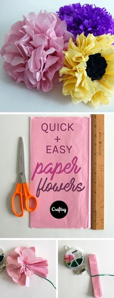 Make the coolest giant tissue paper flowers ever pinterest make these easy tissue paper flowers for a bright and spring themed mothers day brunch mightylinksfo
