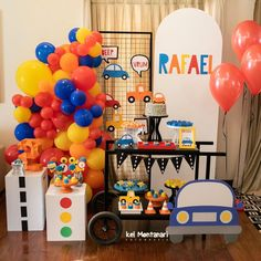 Birthday Event Ideas, Boys First Birthday Party Ideas, Cars Birthday Parties, 1st Boy Birthday, Birthday Party Decorations, Transportation Birthday, Race Car Birthday, Popsicle Party, Construction Birthday Parties