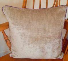 Velvet Delight thick velvet with the Fabniki purple velvet piped edges. Made as a size of 18 inches square Purple Cushions, Cream Cushions, Velvet Cushions, Purple Velvet, Throw Pillows, Color, Purple Throw Pillows, Toss Pillows, Cushions