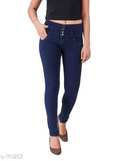 Jeans Trendy Poly Cotton Jean Fabric: Poly Cotton