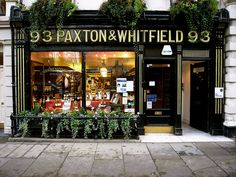 Just a hop, skip and jump away from Berry Bros. & Rudd, Paxton & Whitfield offer an outstanding range of quality cheeses - 93 Jermyn Street