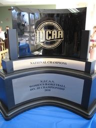 2010 NJCAA Division III Women's Basketball National Championship Trophy