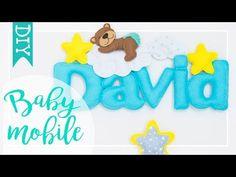 Cum facem o decoratiune personalizata cu luna ,urs si stelute din fetru/Tutorial RO - تنزيل يوتيوب Felt Name Banner, Name Banners, Felt Animal Patterns, Stuffed Animal Patterns, Felt Mobile, Mobile Mobile, Felt Baby Shoes, Baby Shower Candy, Diy Toys