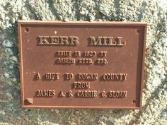 Kerr's Mill near Mooresville, Rowan Co., NC.
