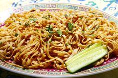 Sesame Peanut Noodles via Sweet & Sour Chronicles >> #WorldMarket Gourmet Recipes