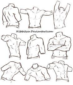 Human Figure Drawing Reference Male Torso Reference Sheet by Kibbitzer on - Human Figure Drawing, Figure Drawing Reference, Body Drawing, Art Reference Poses, Anatomy Drawing, Anatomy Reference, Drawing Tips, Drawing Tutorials, Anatomy Art