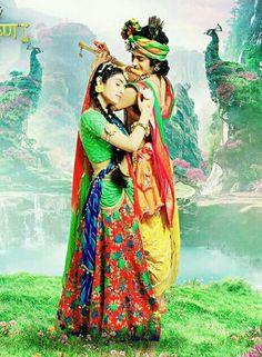 Image may contain: 2 people, people standing and outdoor Radha Krishna Holi, Krishna Flute, Krishna Statue, Radha Krishna Pictures, Krishna Photos, Shree Krishna, Krishna Art, Lord Krishna, Ganesh Lord