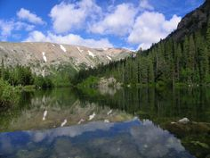 A small, absolutely stunning lake near Alma, Colorado.