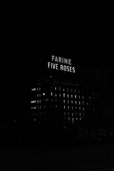 """Montreal Iconic """"Farine Five Roses"""" Sign by pegase1972, via Flickr Breakup Quotes, Summer Bucket Lists, Novels, Signs, My Love, Words, Rose, Inspiration, Places"""
