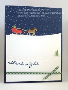 Did You Stamp Today?: Nighttime Sleigh Ride - Stampin' Up! Sleigh Ride Edgelits