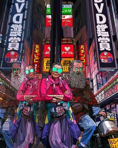 """""""Our Future Is Now"""": The Incredible Cyberpunk Illustrations Of Mad Dog Jones – Design You Trust Cyberpunk 2077, Arte Cyberpunk, Cyberpunk Aesthetic, Sience Fiction, Drugs Art, New Retro Wave, Cyberpunk Character, Neon Aesthetic, Instagram Artist"""