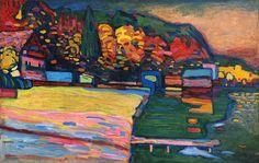 Kandinsky, Wassily (1866-1944) - 1908 Lake Starnberg (Tate Gallery, London, UK)   Flickr - Photo Sharing!